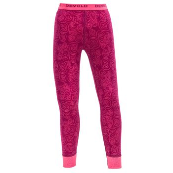 Devold Active ullongs barn Rosa