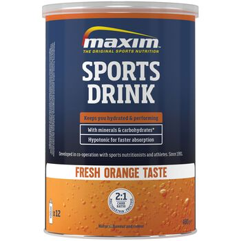 MAXIM Sports Drink 480 g Orange energidrikk Blå