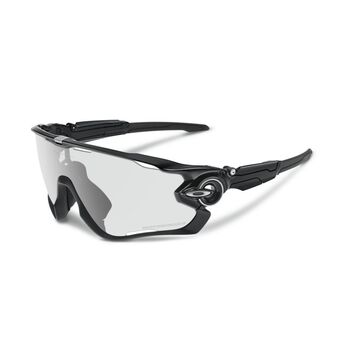 Oakley Jawbreaker Clear To Black Photocromic - Polished Black sportsbriller Herre Svart